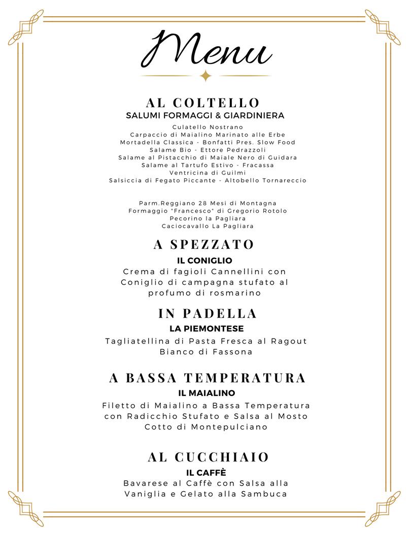 Menu cena carne 1 essenza cucina di mare for Z cucina menu